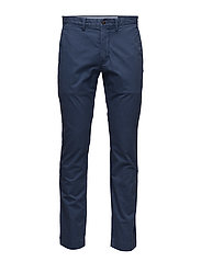 Stretch Slim Fit Cotton Chino - RUSTIC NAVY