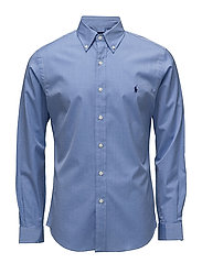 Slim Fit Stretch Cotton Shirt - 2865 BLUE END ON