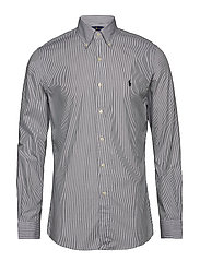 Slim Fit Stretch Cotton Shirt - BLACK/WHITE HAIRL