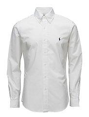 Slim Fit Stretch Cotton Shirt - WHITE