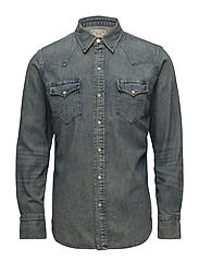 Classic Fit Denim Shirt - KEATON WASH