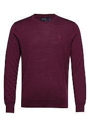 LS SF CN PP-LONG SLEEVE-SWEATER - CLASSIC BURGUNDY