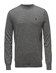 LS SF CN PP-LONG SLEEVE-SWEATER - FAWN GREY HEATHER