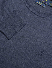Polo Ralph Lauren - Slim Washable Merino Sweater - knitted round necks - fresco blue heath - 3