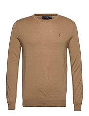 Slim Washable Merino Sweater - LUXURY TAN HEATHE
