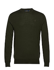 LS SF CN PP-LONG SLEEVE-SWEATER - OIL CLOTH GREEN