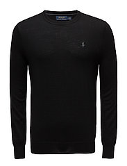 LS SF CN PP-LONG SLEEVE-SWEATER - POLO BLACK