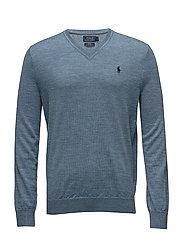Slim Washable Merino Sweater - LIGHT CHAMBRAY HE