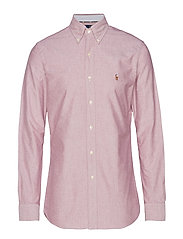 Slim Fit Oxford Shirt - 2535C CRIMSON/WHI