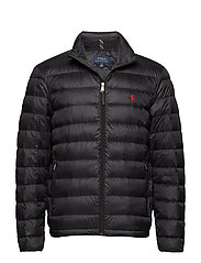 Packable Quilted Down Jacket - POLO BLACK