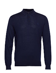 LS PLACKET-LONG SLEEVE-SWEATER - HUNTER NAVY