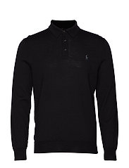 LS PLACKET-LONG SLEEVE-SWEATER - POLO BLACK