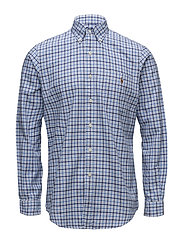 Classic Fit Plaid Oxford Shirt - 2743 BLUES MULTI/