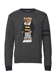 Polo Bear Sweater - GREY HEATHER