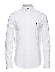 Custom Slim Fit Mesh Shirt - WHITE