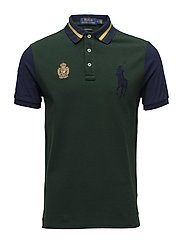 Custom Slim Fit Mesh Polo Shirt - COLLEGE GREEN MUL