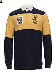 Classic Fit Jersey Rugby Shirt - CRUISE NAVY/ GOLD
