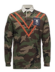 Classic Fit Camo Jersey Rugby - SURPLUS CAMO