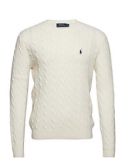 LS CABLE CN-LONG SLEEVE-SWEATER - ANDOVER CREAM