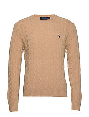LS CABLE CN-LONG SLEEVE-SWEATER - CAMEL MELANGE