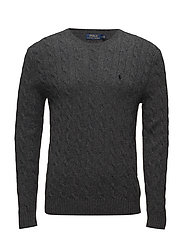 LS CABLE CN-LONG SLEEVE-SWEATER - DARK CHARCOAL HEA