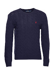 LS CABLE CN-LONG SLEEVE-SWEATER - HUNTER NAVY