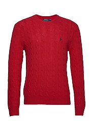 LS CABLE CN-LONG SLEEVE-SWEATER - PARK AVENUE RED