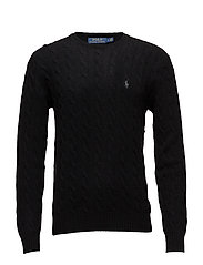 LS CABLE CN-LONG SLEEVE-SWEATER - POLO BLACK