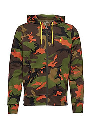 Performance Camo Hoodie - ORANGE CAMO MULTI