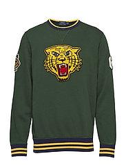 Cotton-Blend-Fleece Sweatshirt - COLLEGE GREEN