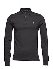 Slim Fit Long-Sleeve Polo - DARK GRANITE HEAT