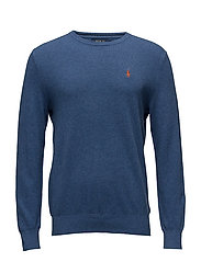 Textured-Knit Cotton Sweater - ROYAL HEATHER