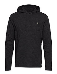Cotton Jersey Hooded T-Shirt - BLACK MARL HEATHE