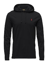 Cotton Jersey Hooded T-Shirt - RL BLACK