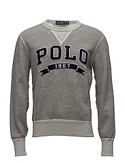 Cotton-Blend-Fleece Sweatshirt - BATTALION HEATHER