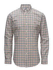 Slim Fit Oxford Shirt - 2448B ORANGE/BLUE