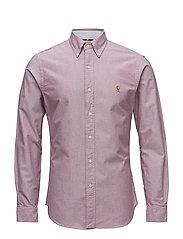 Slim Fit Oxford Shirt - 2535C CRIMSON/WHI