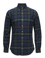 Slim Fit Plaid Oxford Shirt - 2905 NAVY/PINE MU