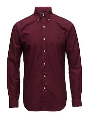 Slim Fit Oxford Shirt - CLASSIC WINE