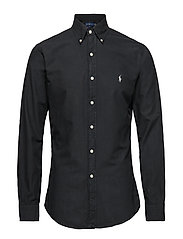 Slim Fit Oxford Shirt - POLO BLACK