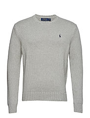 Cotton Crewneck Sweater - ANDOVER GREY HEAT