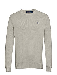 Cotton Crewneck Sweater - ANDOVER HEATHER