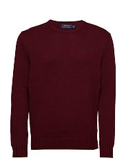Cotton Crewneck Sweater - CLASSIC WINE
