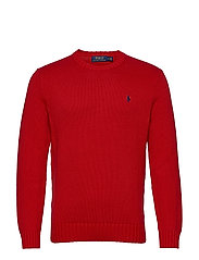 Cotton Crewneck Sweater - POLO SPORT RED