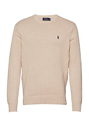 Cotton Crewneck Sweater - SAND HEATHER