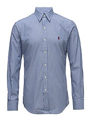 Slim Fit Striped Poplin Shirt - 2364A BLUE/WHITE
