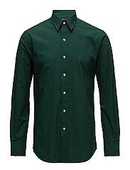 Slim Fit Striped Poplin Shirt - COLLEGE GREEN