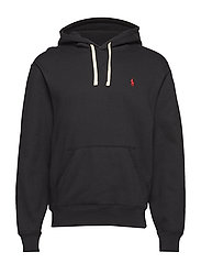 Cotton-Blend-Fleece Hoodie - POLO BLACK