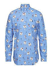 Classic Fit Print Oxford Shirt - 3093 BOATHOUSE BE