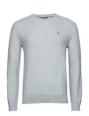 Merino-Silk-Cashmere Sweater - COOL GREY HEATHER